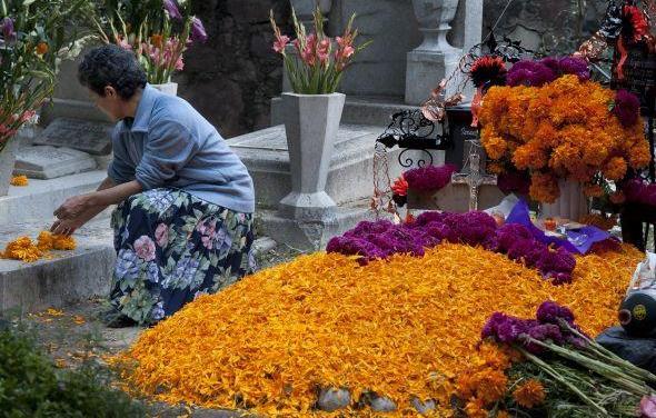 """Se llenan de vida los panteones por el """"Día de Muertos"""""""