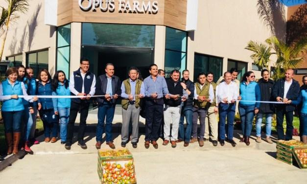 Visita Gobernador instalaciones de Opus Foods México en Jacona
