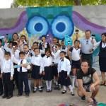 Con pinta de mural, alumnos se involucran en el cuidado del agua