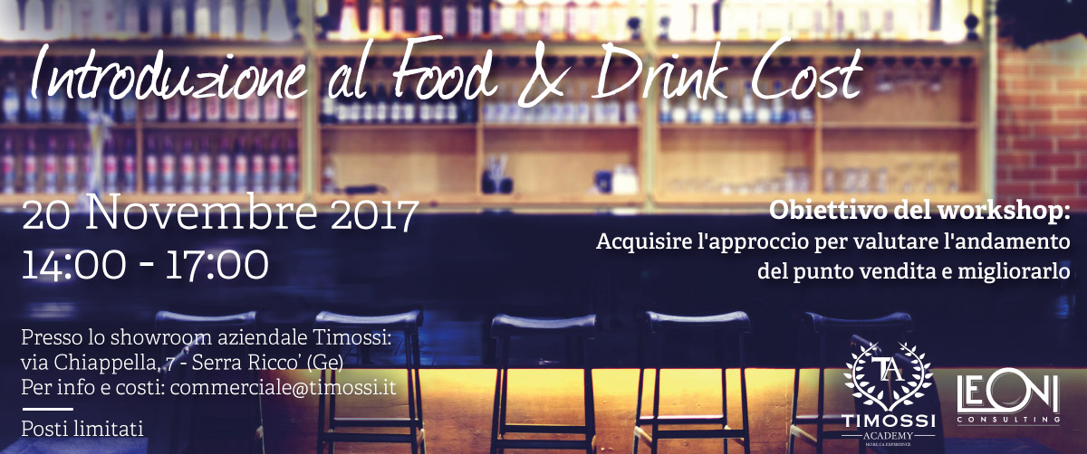 20 Nov 2017 – Introduzione al Food & Drink Cost