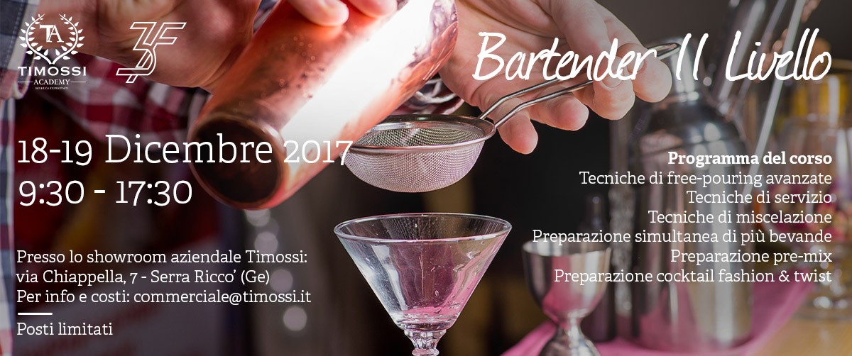 18/19 Dic 2017 – Corso Bartender II livello