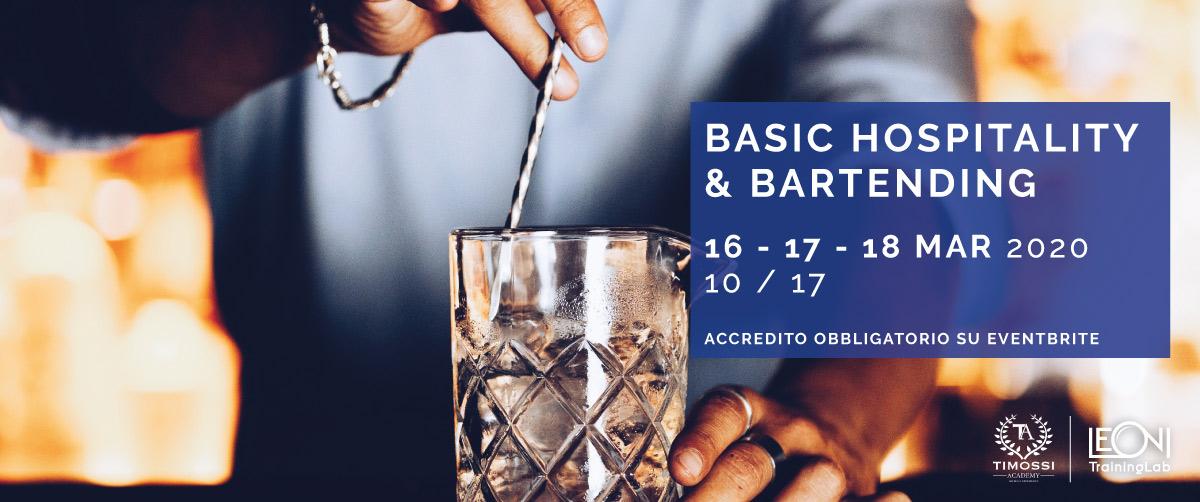 16/17/18 Mar 2020 – Basic Hospitality e Bartending