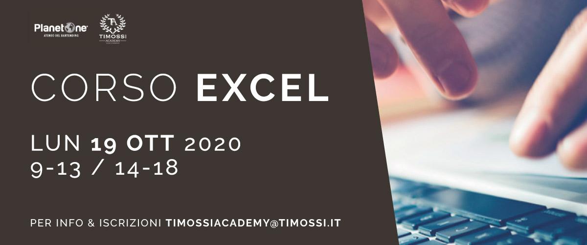 19 Ott 2020 – Corso Excel