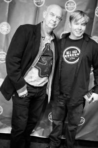 Timothy Schultz (right) with actor Doug Bradley (left), known for playing Pinhead in the 'Hellraiser' film series.