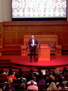 Jason preaching
