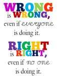 Motivation and wisdom poster - right and wrong