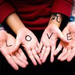 love written on hands