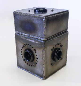 Fabricated Metal Object Sculpture Box