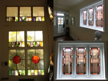 Stained Glass Door Leaded Windows