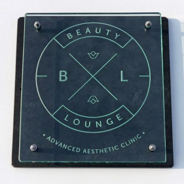 Business Sign Engraved Glass Slate BL