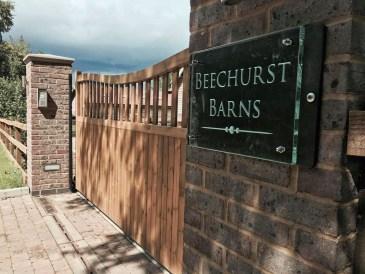Contemporary House Sign Glass Beechurst Barns