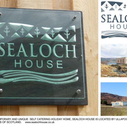 Engraved Glass Plaque Bespoke Sealoch House Tim Carter