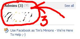 Facebook dual admins