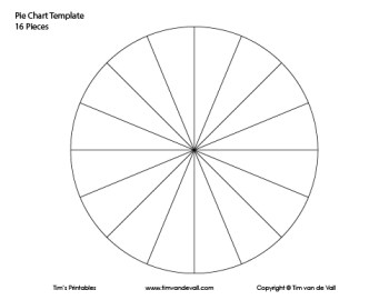 Pie Chart Template - 16 Pieces