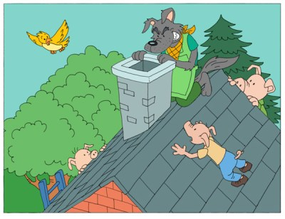 16-the-three-little-pigs-and-the-big-bad-wolf