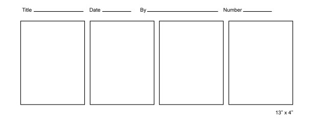 Comics Strip Templates
