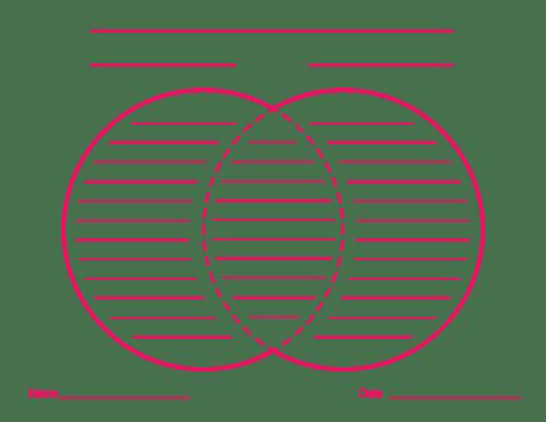 Blank Venn Diagrams with Lines