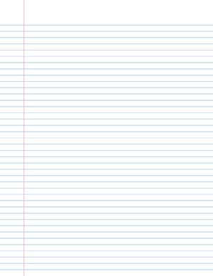 Notebook paper template