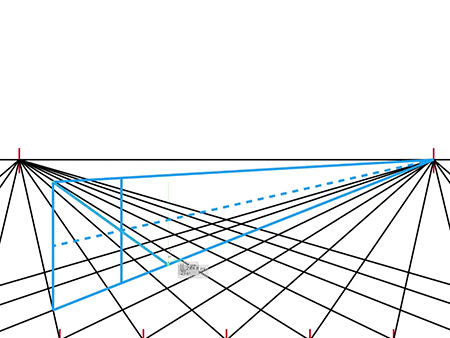 how to draw a two point perspective grid tutorial
