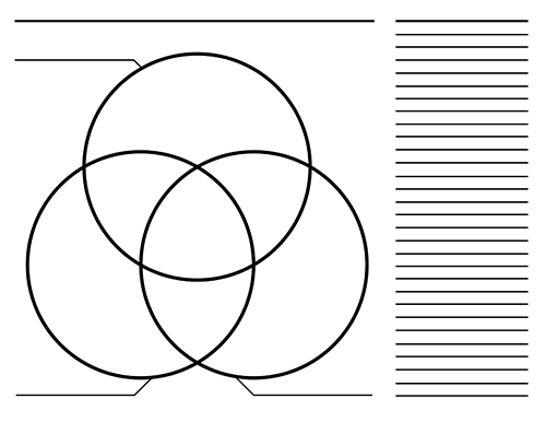 3 Circle Venn Diagram Templates