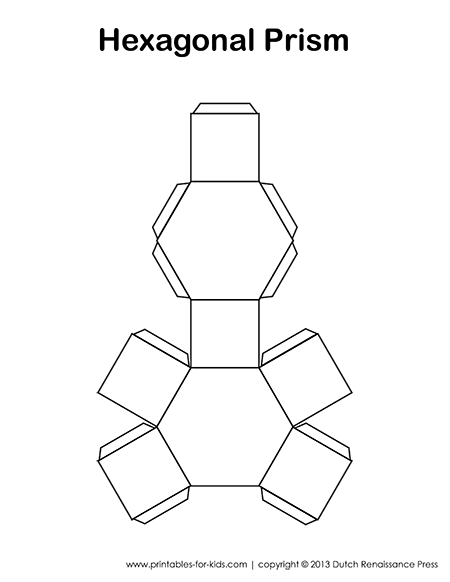 Hexagonal Prism Paper Model Net