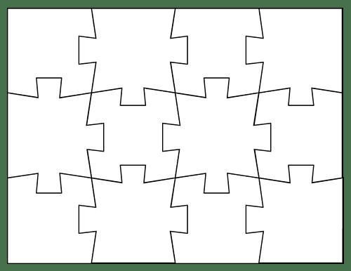 Outline 12 Puzzle Piece