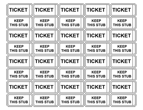 blank raffle tickets