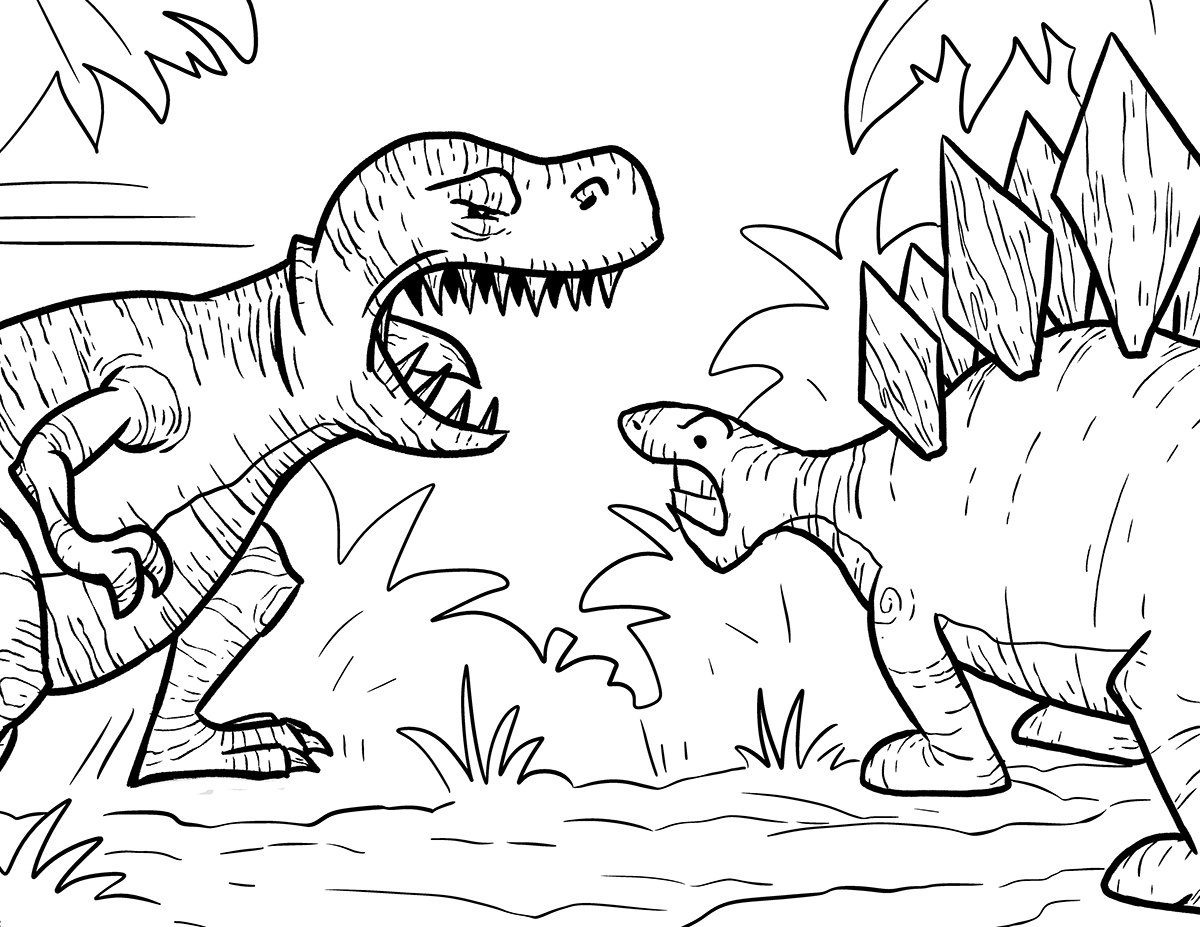 T Rex Coloring Pages – coloring.rocks! | 927x1200