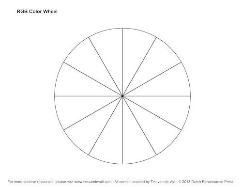 RGB Color Wheel, Hex Values & Printable Blank Color Wheel