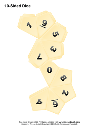 paper 10-sided dice