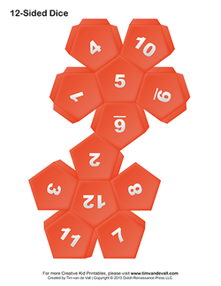 Printable-12-Sided-Paper-Dice-Red-350w