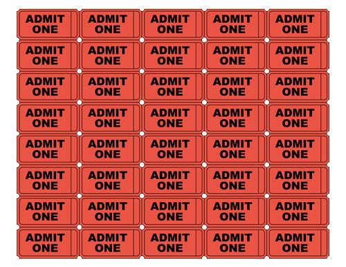 free printable admit one ticket templates blank. Black Bedroom Furniture Sets. Home Design Ideas