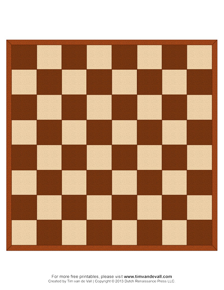 It is a graphic of Chess Board Printable with layout