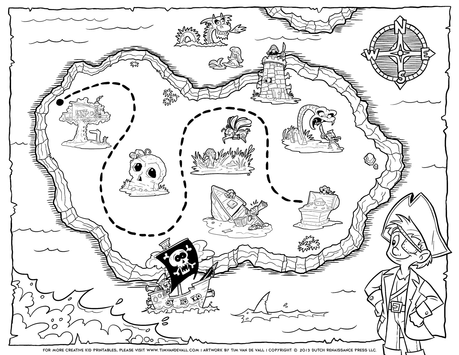 Free Pirate Treasure Maps For A Pirate Birthday Party Treasure Hunt