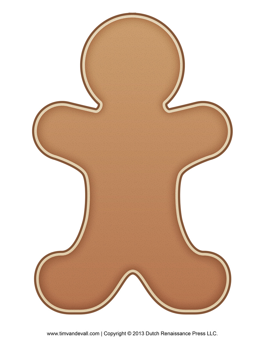 It is a picture of Gingerbread Printable pertaining to cute