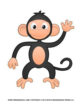 Cute Monkey Clipart