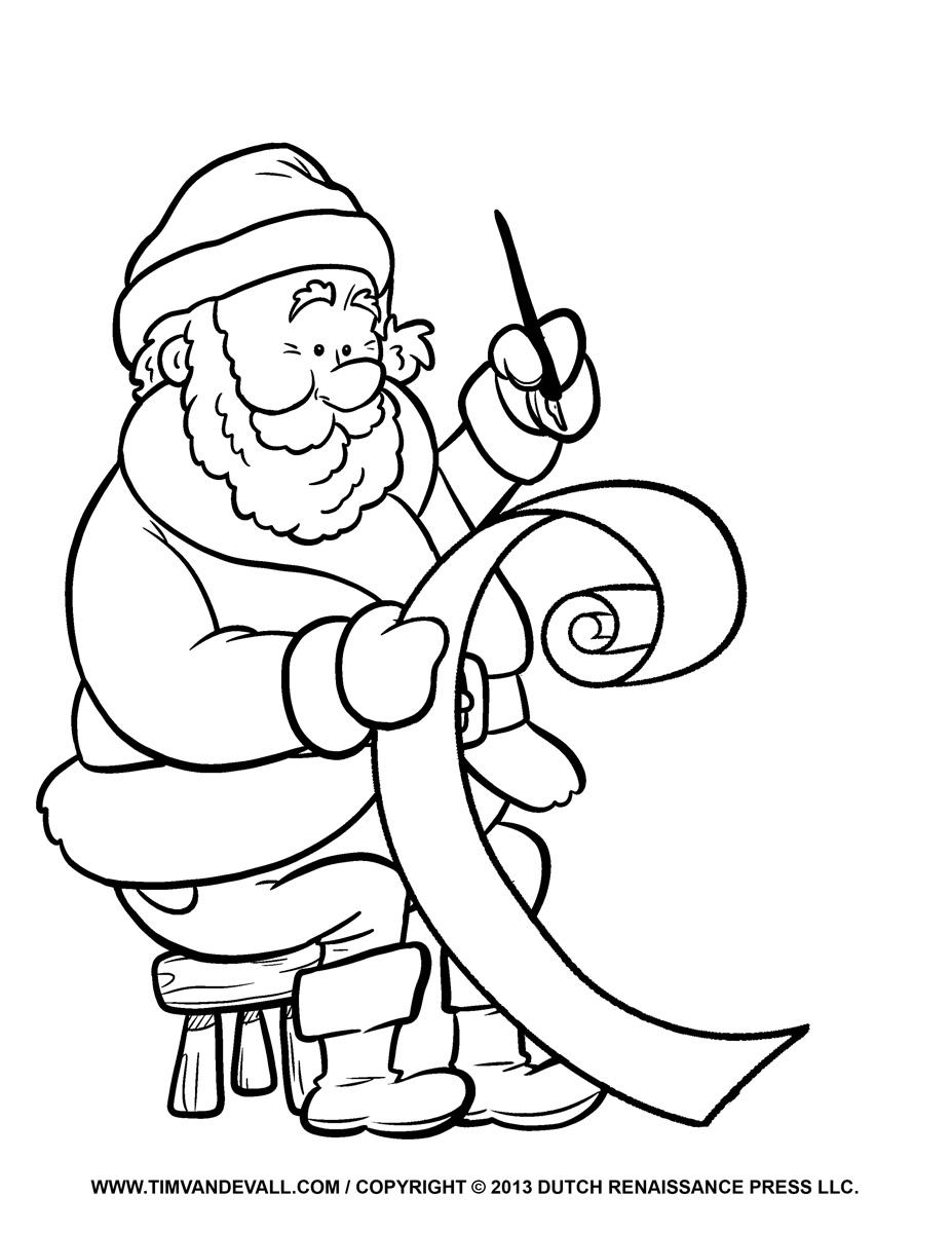 Free Santa clip art, pictures, coloring pages & letter ...