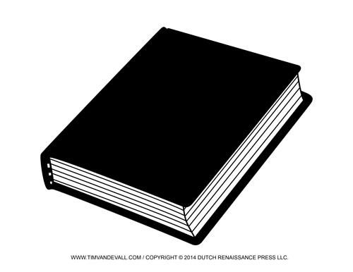 Closed Book Clip Art Black and White