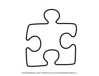 Jigsaw Puzzle Piece Template