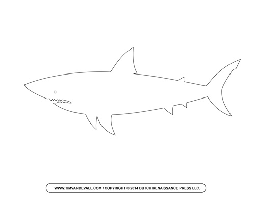 Shark Outline Clipart
