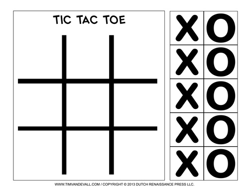 Tic-Tac-Toe Printable