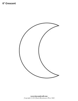 Printable Crescent Shape
