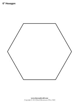 Printable Hexagon Shape