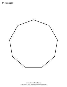 Printable Nonagon Shape