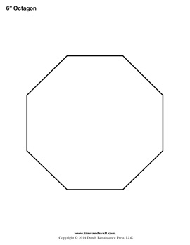 Printable Octagon Shape