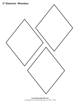 Blank Diamond Stencil