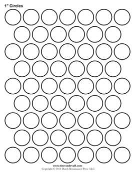circle template printable