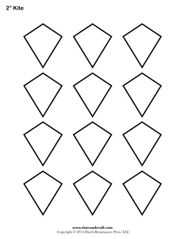 Printable Kite Outline