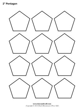 Printable Pentagon Outline