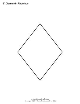 Printable Rhombus Shape